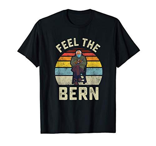 Fühlen Sie die Bern Bernie Sanders Handschuhe Lustige Meme T-Shirt