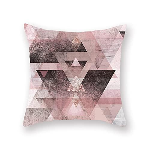 Almohada de Almohada de Almohada de Oro Rosa de Almohada Piel de Almohada Piel de Almohada Pinkowcase Rosa Se Pueden Seleccionar múltiples Patrones (Color : 15, Size : 45x45cm)