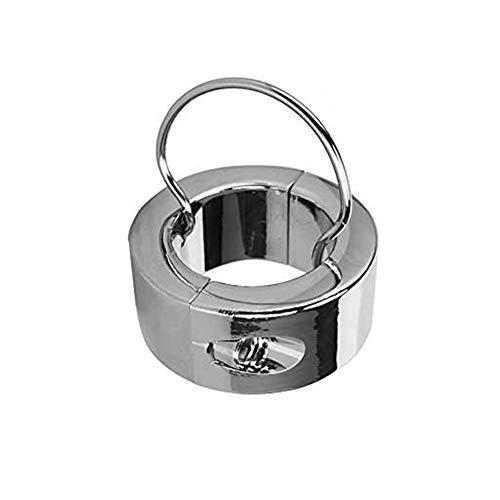 ZWFUN Extra Schwer Ball-stretcher CBT Edelstahl Hodenring - Hodengewicht - Ball Stretcher Ring mit Schlüssel - Größe 10X25X37 mm