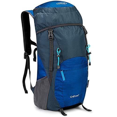 G4Free 35L Wasserdichter Ultraleicht Faltbarer Trekkingrucksack Daypack Damen Herren für Outdoor Wandern Camping Reisen