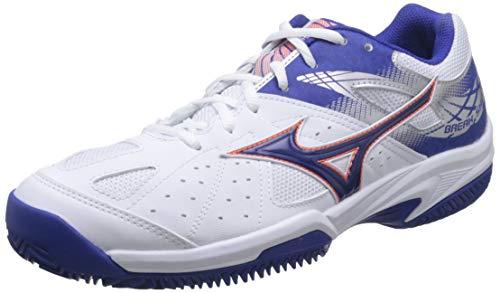 Mizuno Break Shot 2 CC, Zapatillas de Tenis para Hombre, Blanco (White/Reflex Blue/Nasturtium 27), 42 EU