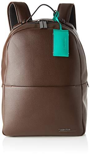 Calvin Klein Herren Ck Bombe' Backpack Rucksack, Braun (Mahogany), 1x1x1 cm