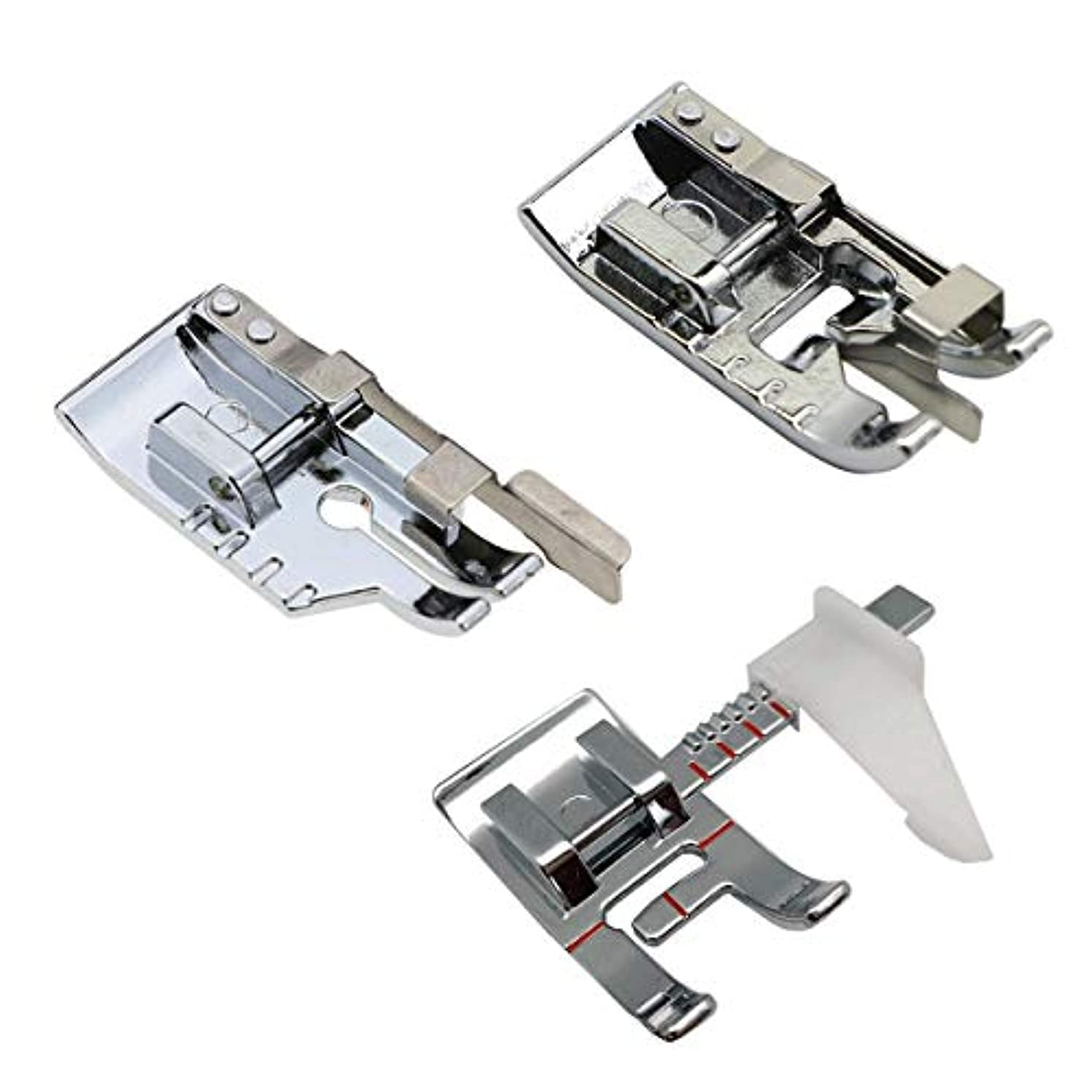 3pcs Sewing Machine Presser Foot Set - 1/4 Inch Quilting Foot/Adjustable Guide Presser Foot/Edge Joining Stitch in The Ditch Sewing Presser Foot for Most Low Shank Singer, Brother Sewing Machines