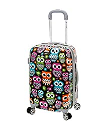 08463ecd0 Rockland 20 Inch Polycarbonate Carry On This suitcase comes in a variety of  colors and patterns. Choose from pink, purple, or multi-colored designs.