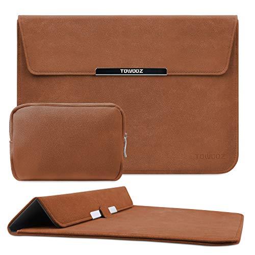 TOWOOZ Funda para portátil de 13,3 pulgadas, compatible con MacBook Air/MacBook Pro de 13 a 13,3 pulgadas, iPad Pro/Surface Pro, piel...