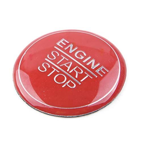 CITALL Autocollants de décoration de bague d'allumage Arrêt du moteur rouge Interrupteur d'allumage Cache du bouton poussoir