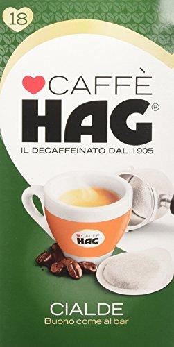 Hag - Caffè in Cialde ESE Decaffeinato - Miscela Espresso per Macchina Portafiltro Monodose - 12 Confezioni