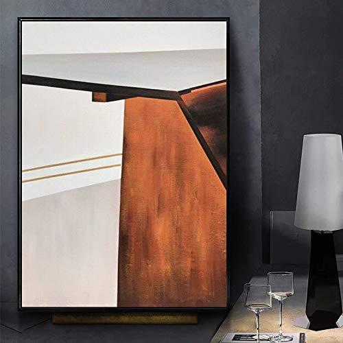 Kein Rahmen Wand Leinwand Malerei Zusammenfassung Orange Villa Eingang Korridor Nordic Modern Paintings Vertikale Banner Leinwand Kunst