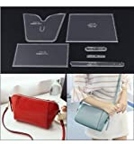 1 Set DIY AmateurWomen's Shoulder Bag Messenger BagTemplate Clear Acrylic Patterns Leather handcraft model