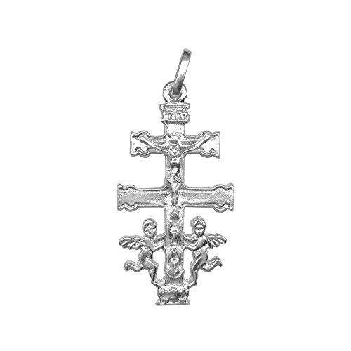 Cruz de Caravaca en plata de primera ley 925m - Angeles - Bendecidas y fabricadas en Caravaca - Diferentes tamaños (3)