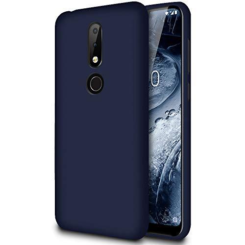 Slim Hülle für Nokia 6.1 Plus (Nokia X6) | Unifarben Tasche in Dunkelblau