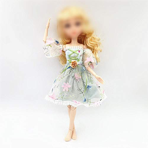 BJD Doll Accessories Dress Clothes for 42cm Doll Joint Doll Dress Up Doll Toy Gift for Girls Bjd 1/4 Clothes Green for 42cm Doll