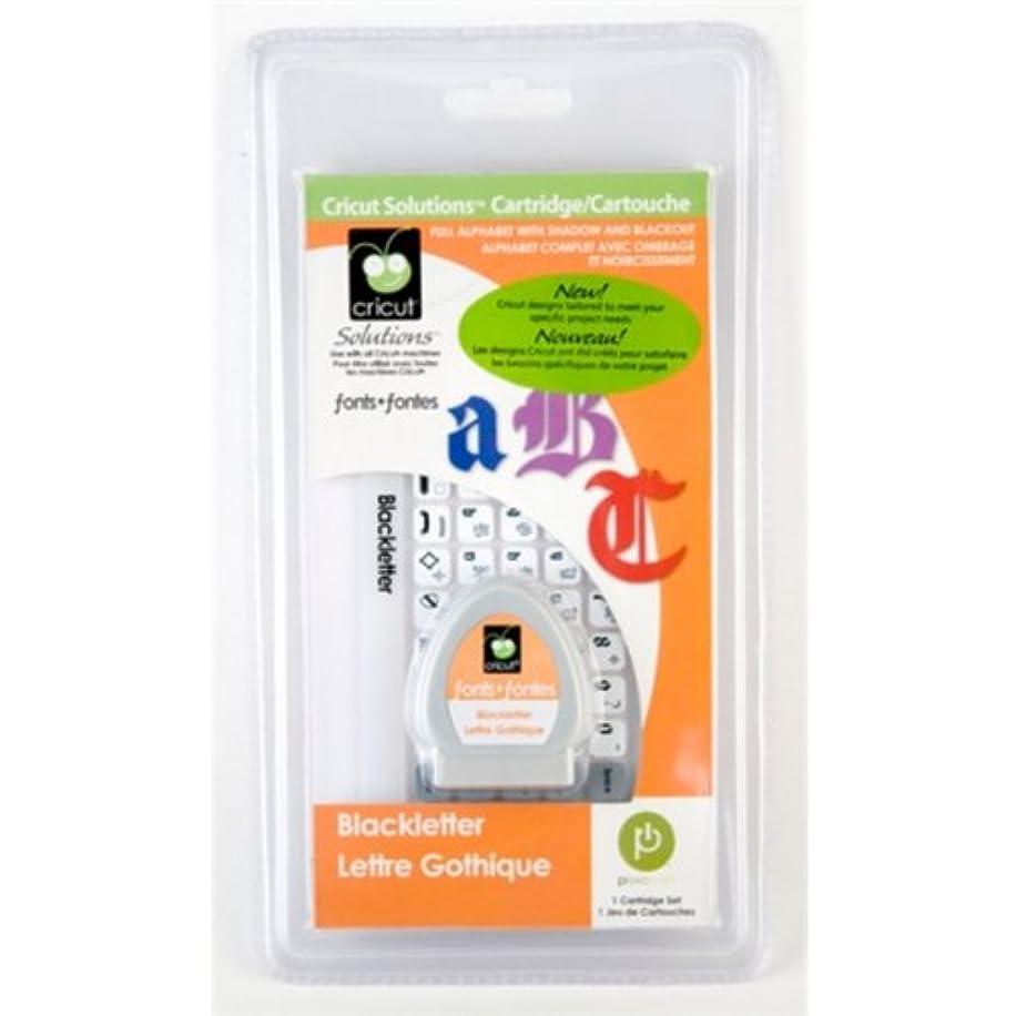 Cricut Solutions Cartridge, Blackletter