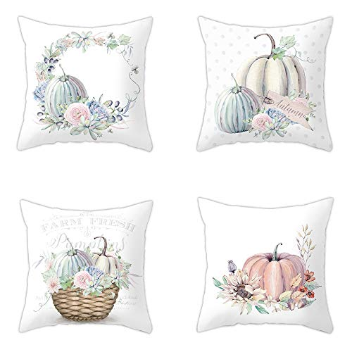Integrity.1 Pillow Case Cushion Cover, 4 Pieces Pillow Case, Throw Pillow Covers, Home Decoration Pillow Case, Pumpkin Pillow, Super Soft Sofa Cushion,for Living Room,Sofa,Bed(17.7 * 17.7in)