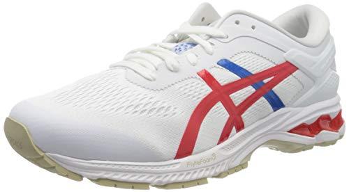 ASICS Men's Gel-Kayano 26 Running Shoe, White/Classic RED, 7 UK