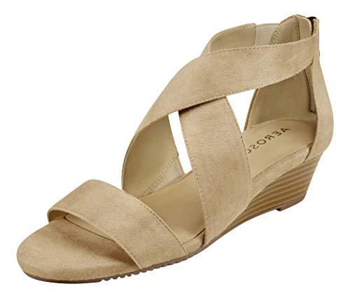 Aerosoles Women's Apprentice Wedge Sandal, Bone Fabric, 8