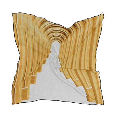 SUUJ Foulards de mode pour femmes, Enfilade en arc de pierre antique isolé sur foulard de soie au toucher carré Foulard enveloppant foulard 23,62 x23,62