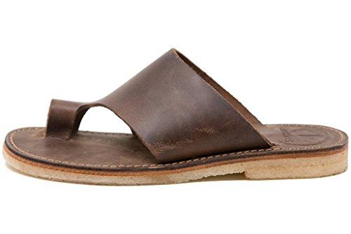 Duckfeet Mando Unisex Leder-Sandale, Braun (Cocoa), 43 EU