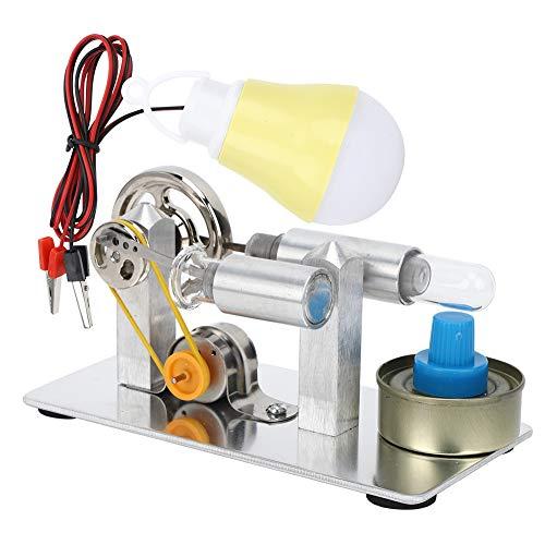 Generatore di energia elettrica a Vapore di Calore Modello Stirling in Acciaio Inossidabile Motore Educazione sperimentale Fisica Giocattolo Regalo per Bambini