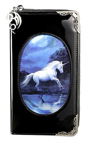 Fantasy Geldbörse mit Einhorn 3D Motiv | Moonlight Unicorn von Anne Stokes | Geldbeutel Portemonnaie Lack