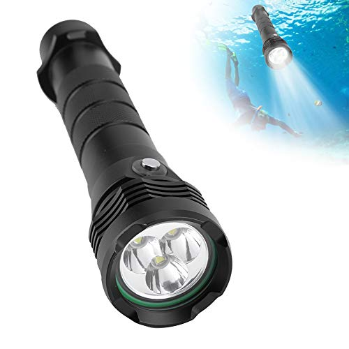5000 lumen linterna de buceo portátil, 80m antorcha subacuática a prueba de agua lámpara super brillante para deportes acuáticos al aire libre bajo el agua