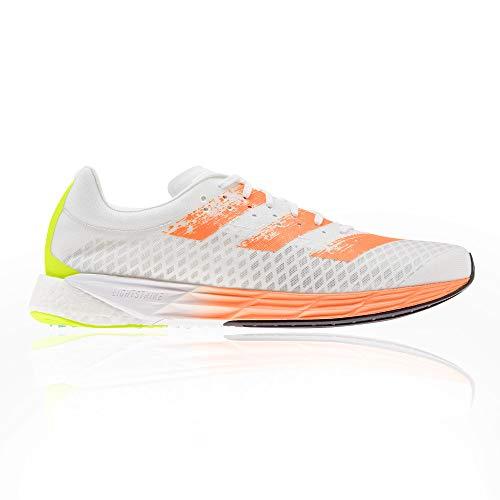 adidas Adizero Pro, Zapatillas para Correr Hombre, FTWR White Screaming Orange Solar Yellow, 37 1/3 EU
