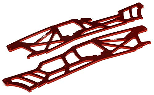Integy RC Model Hop-ups T6983RED 4mm Chassis Plates for HPI Savage XL