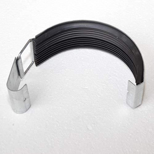 Dachrinnenverbinder Rinnenverbinder Titanzink Zink Größe 7-tlg / 280-127mm