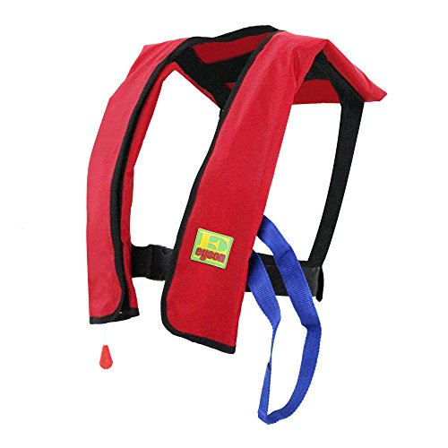 Best Prices! Eyson Inflatable Life Jacket Life Vest Basic Manual (Red)