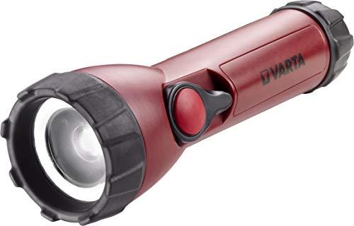 Varta Industrial - Linterna (3 Watt LED, 120 lúmenes, 4 pilas AA incluídas)