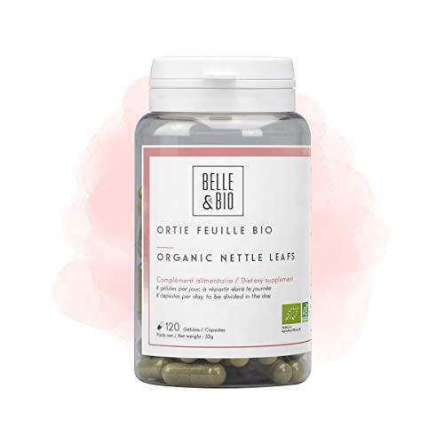 Belle&Bio - Ortie Feuille Bio - 120 gélules - 800 mg / jour - Cheveux&Ongles - Certifié Bio par Ecocert - Fabriqué en France