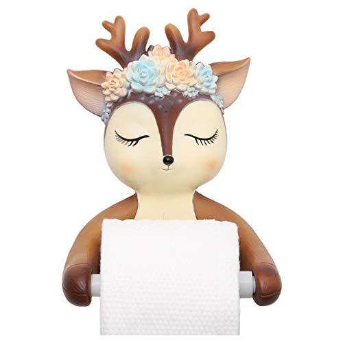 TcooLPE WC-Papierhalter, Little Deer roll Paper tubeToilettenpapierhalter Wasserdicht Toilettenpapier Box Rollenpapier Halter (Color : C)