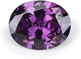 50PCS 2x3mm AAAAA Oval Amethyst Loose CZ Stones Cubic Zirconia Synthetic Gemstone (2x3mm 50pcs)