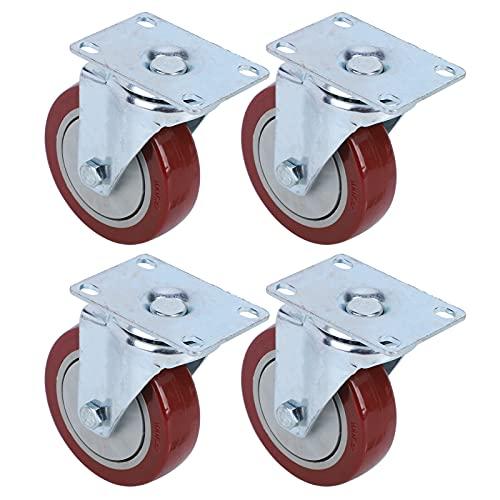 Rueda de carro, Rueda pesada Rotación flexible para carros Bancos de trabajo, Muebles(4 pulgadas)