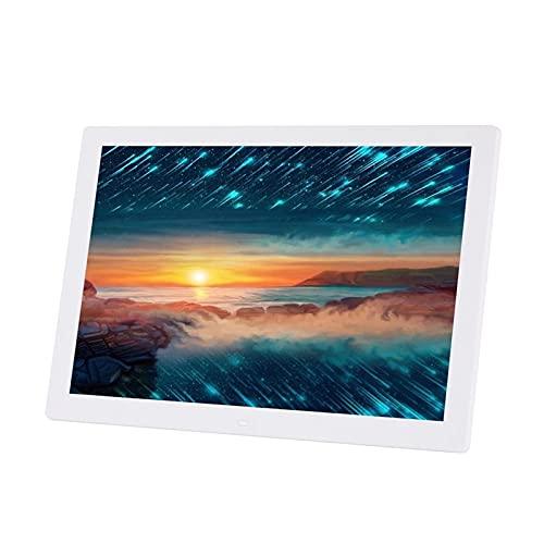 17,3 tum Elektroniskt album Digital fotoram Full perspektiv IPS skärmdisplay Support Bild/Musik/Video Spela fristående reklam Maskinupplösning 1920 * 1080 (Svart/Vit) (Color : White)