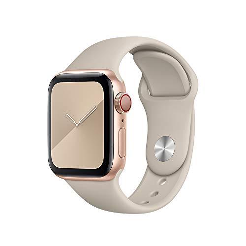 Pulseira silicone compativel para Apple watch e Iwo premium (Bege 38/40mm)