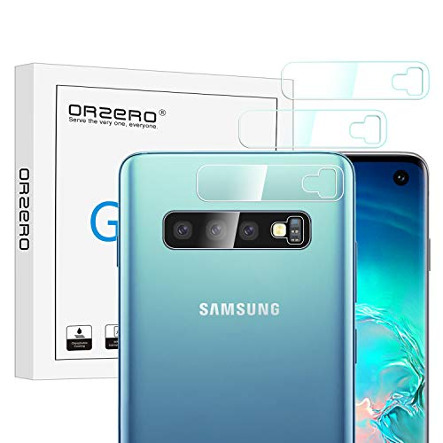 (4 Pack) Orzero for Samsung Galaxy S10 Plus, S10, S10+ Camera Lens Flexible Glass Protector (Upgraded), (Flexible Glass), (2.5D Arc Edges), HD Anti-Scratch Bubble-Free (Lifetime Replacement)