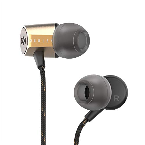 House of Marley Uplift 2 Wired Headphones with a Microphone, Brass