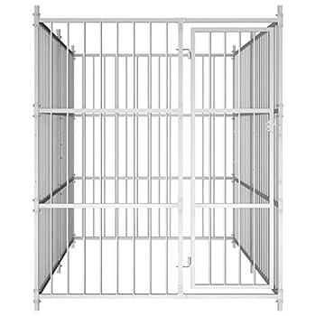 vidaXL Chenil d'Extérieur pour Chiens 300x150x185 cm Enclos Parc Cage Niche Chiots