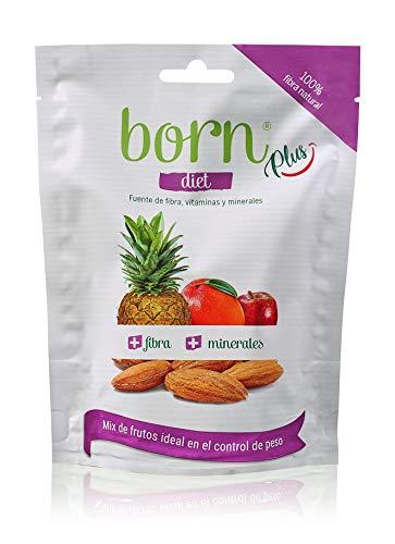 Born Diet - Mix de Fruta Semideshidratada y Frutos Secos 100% Naturales - Vegetariano, Vegano, Paleo, sin Gluten, sin Lactosa, sin Azúcar Refinado - Doy Pack 55 G