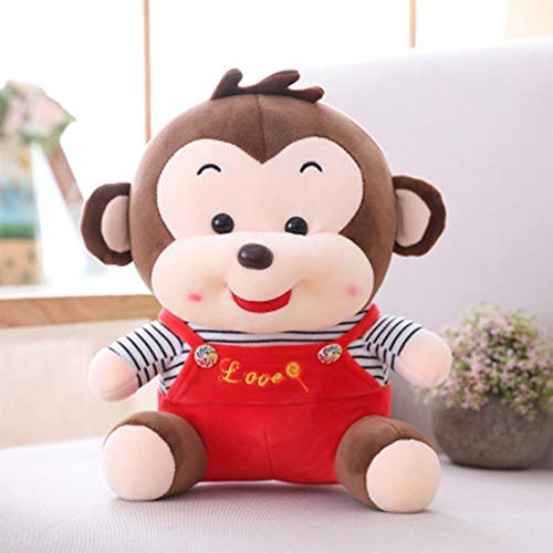 Nieuwe Pillow Meng Ugly Smiley Monkey Plush Toy Grote Kleding Monkey Doll Ragdoll Kinderen Gift (Color : Red)