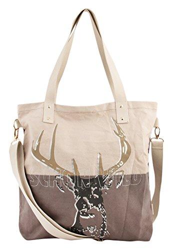 Adelheid Schön wild Einkaufstasche, Größe:ohne Größe, Farbe:sand