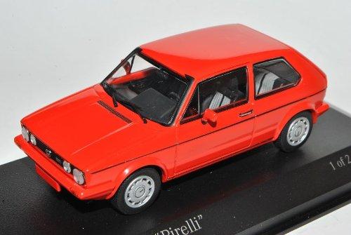 Minichamps Volkwagen Golf I GTI Pirelli Rot 3 Türer 1974-1983 1/43 Modell Auto