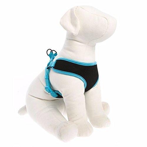 TOP PAW Mesh Dog Harness Black & Blue X-Large