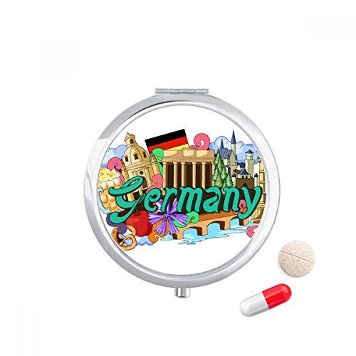 DIYthinker Nieuwe Zwaan Stone Kasteel Bier Duitsland Graffiti Reizen Pocket Pill case Medicine Drug Storage Box Dispenser Spiegel Gift