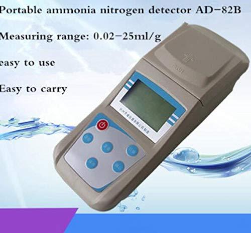 Analizador de nitrógeno de amoniaco portátil, pantalla grande LCD, detector de amoniaco y nitrógeno, monitor de concentración, rango de medición: 0,02-25 mg/l