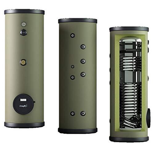 EDELSTAHL Speicher - Trinkwasserspeicher mit 1 oder 2 Wärmetauscher, Boiler Warmwasserspeicher Standspeicher inkl. Magnesiumschutzanode, regelbare Stellfüße 120 160 200 300 400 L Liter