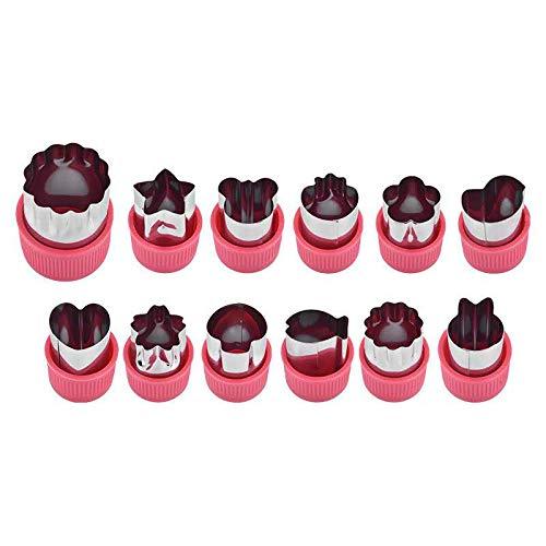 Stampini per biscotti 12 pezzi Formine biscotti Tagliabiscotti,Tagliaverdure con coperchio, Tagliafrutta, Argilla con coperchio rimovibile.