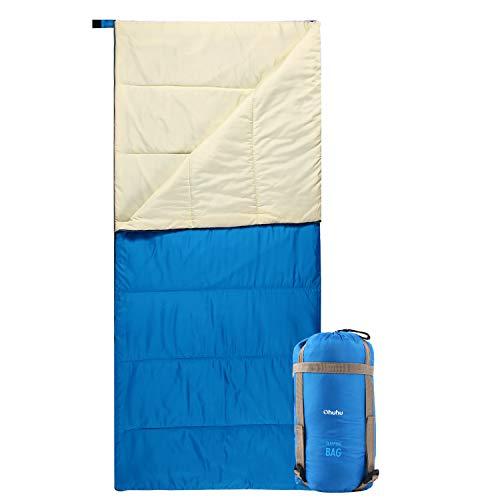 Schlafsack, Ohuhu Warmes Schlafsack Tragbar Leicht Wasserdicht Schlafsack mit Kompressionssack für Camping, Backpacking, Wandern, Reisen