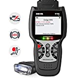 INNOVA 6100P OBD2 Scanner ABS SRS Check Engine Light Code Reader Car Scan Tool with Battery Alternator Test Oil Service Light Reset Car Health Monitor with Free Pouch
